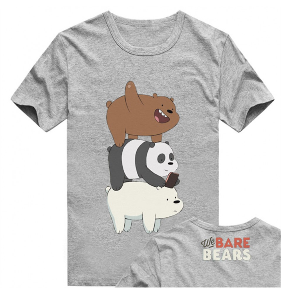 Timecosplay We Bare Bears Grizzly Tee Shirts