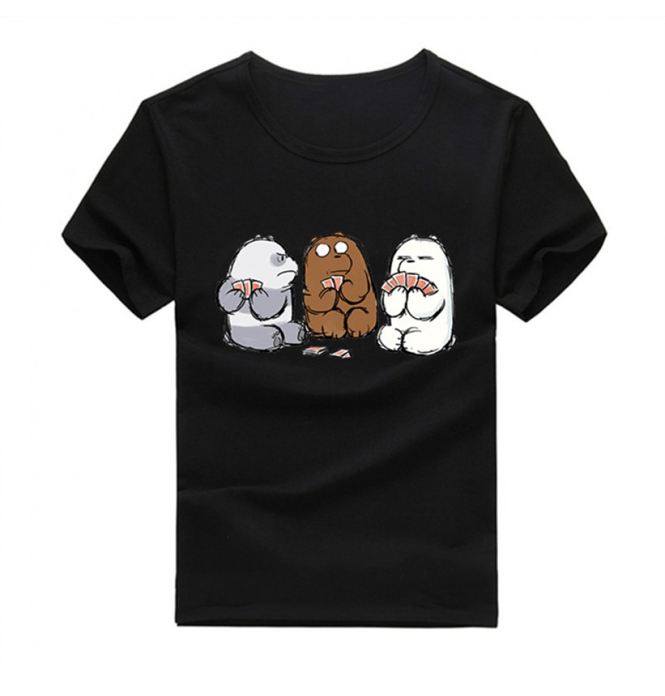 Timecosplay We Bare Bears Men Tee Shirts