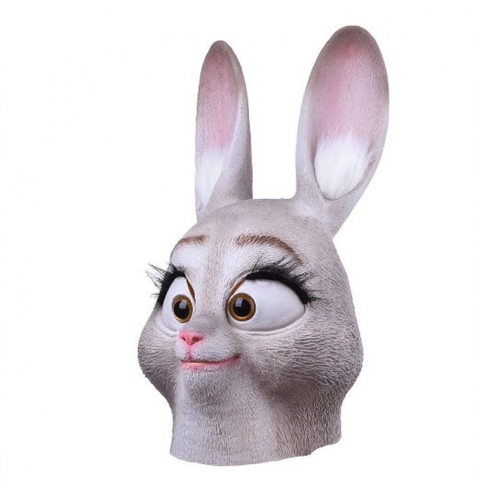 TimeCosplay Zootopia Judy Latex Cosplay Mask Halloween