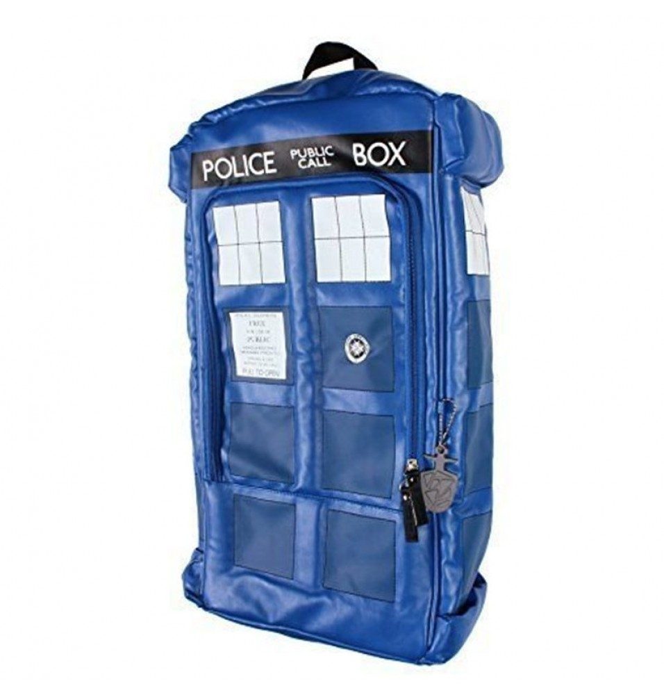 Doctor Who Figural Police Box TARDIS Cosplay Shoulders Bag Schoolbag
