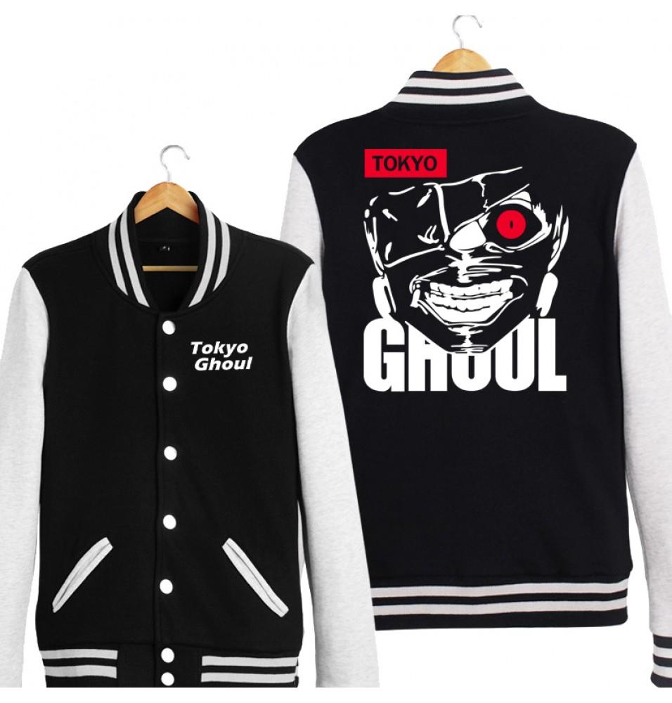Tokyo Ghoul Kaneki Ken Logo Baseball Jackets