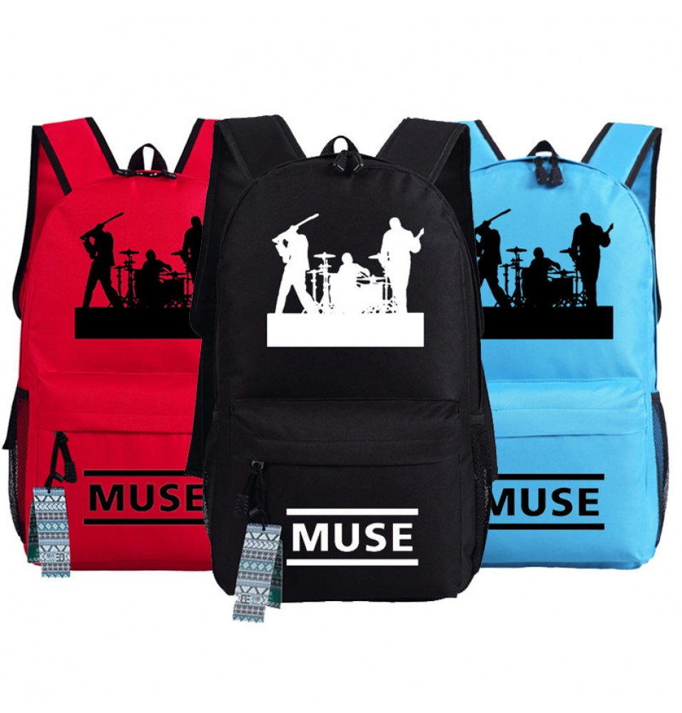 United Kingdom Muse Rock Band Logo Backpack School Bag