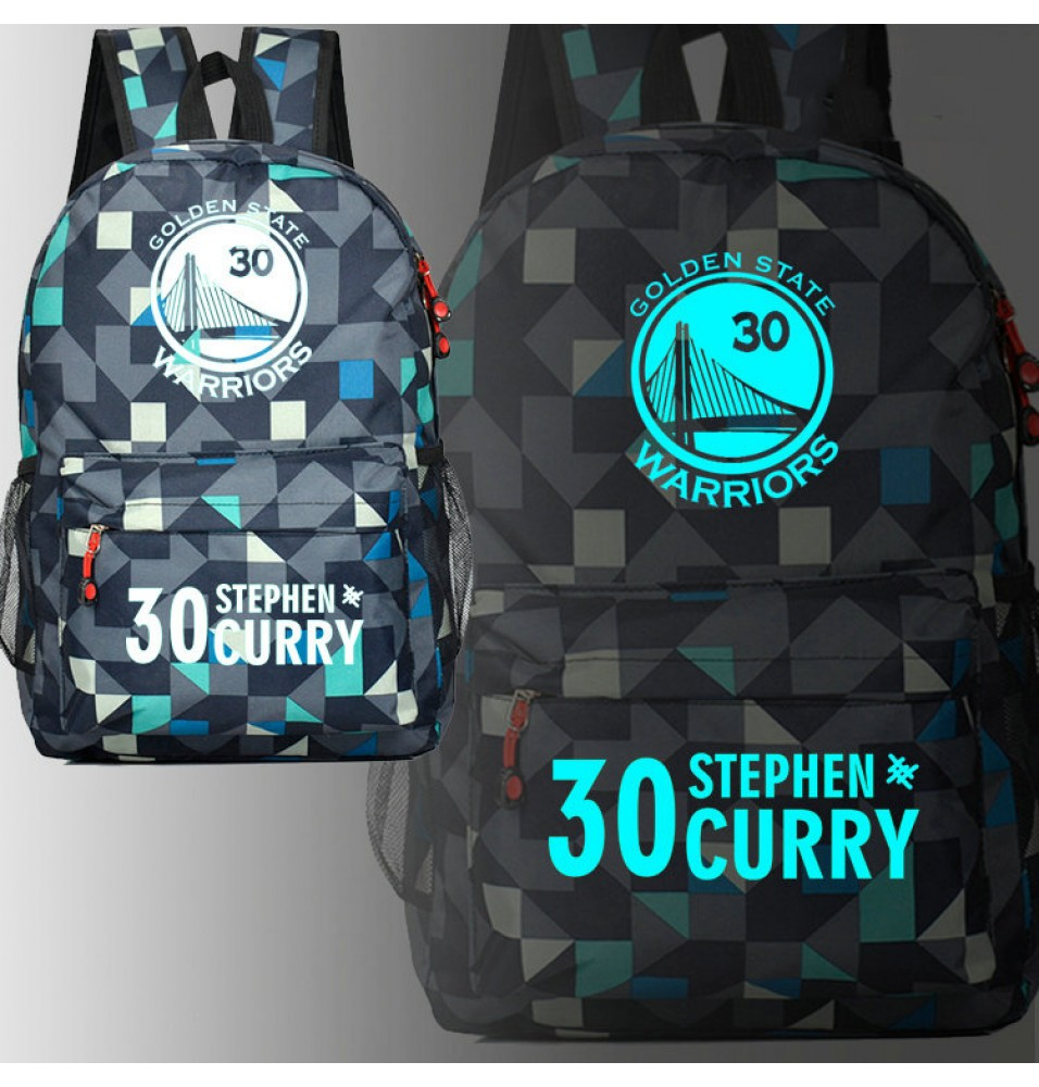 Warriors Stephen Curry 30 Glow Luminous Schoolbag Backpack