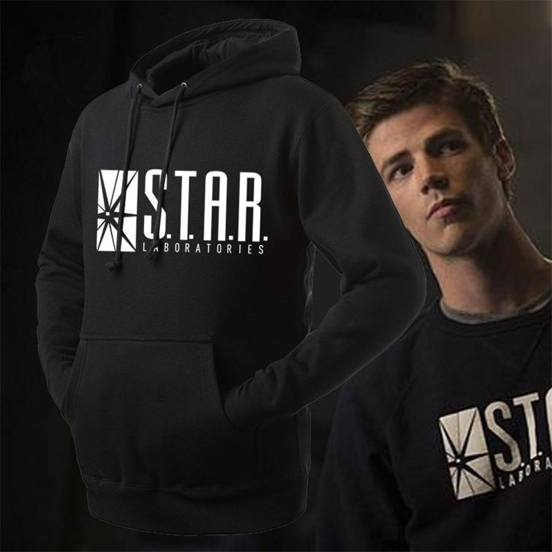 DC Super Hero The Flash Star Labs Logo Pullover Hoodies