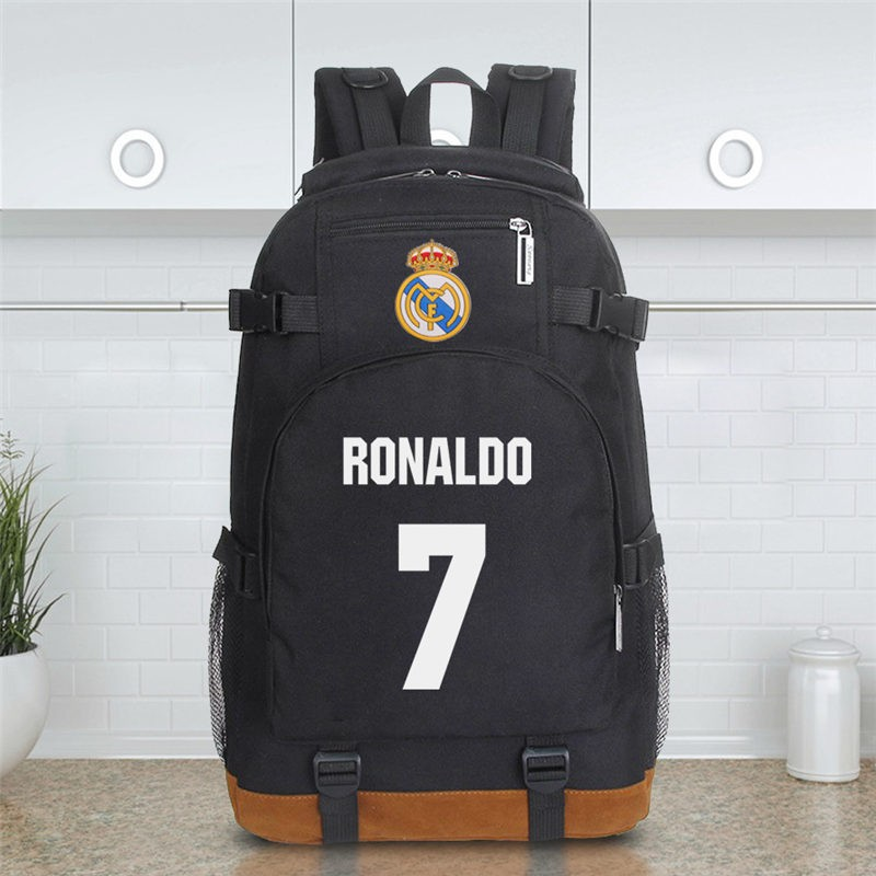 Timecosplay Real Madrid Ronaldo 7 Schoolbag Backpack