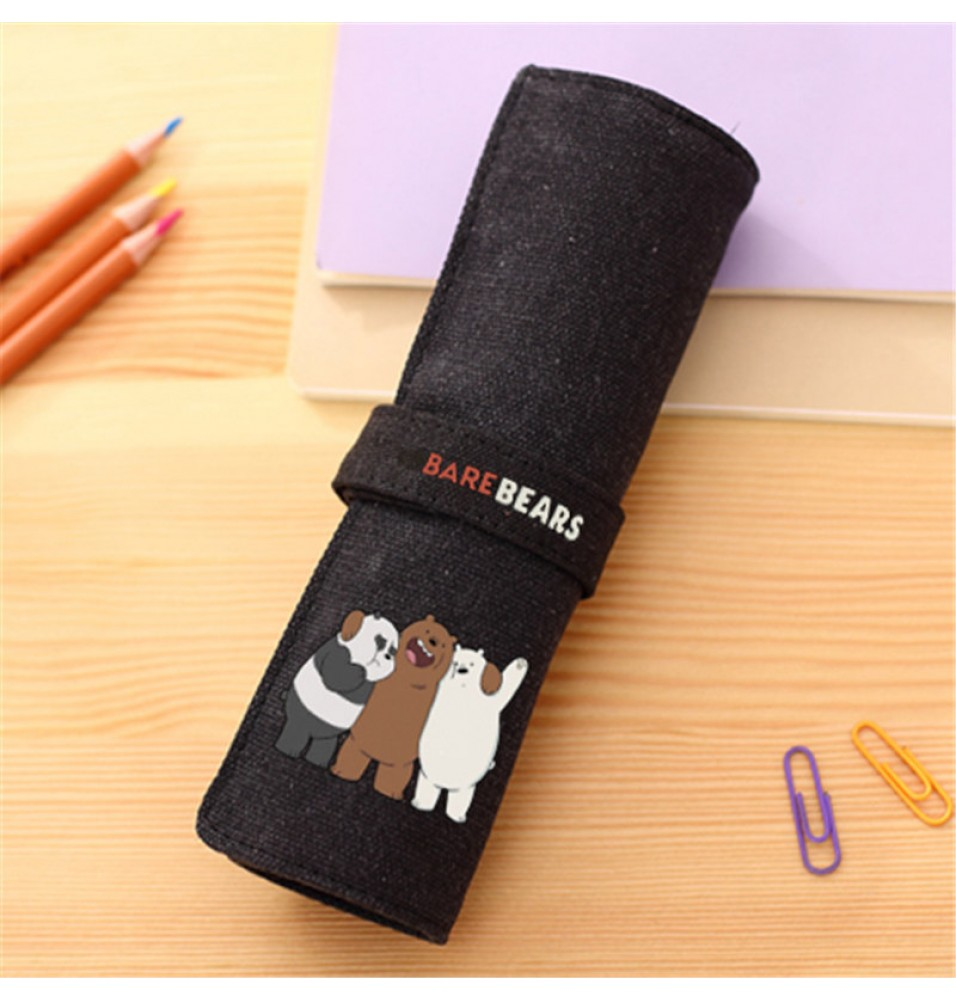 Timecosplay We Bare Bears Pen Pencil Stationery Pouch Bag Case