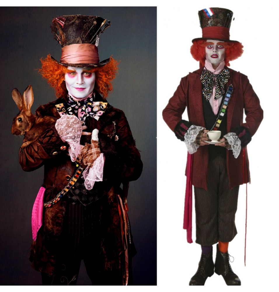 Alice In Wonderland Cosplay Mad Hatter Jacket Costume
