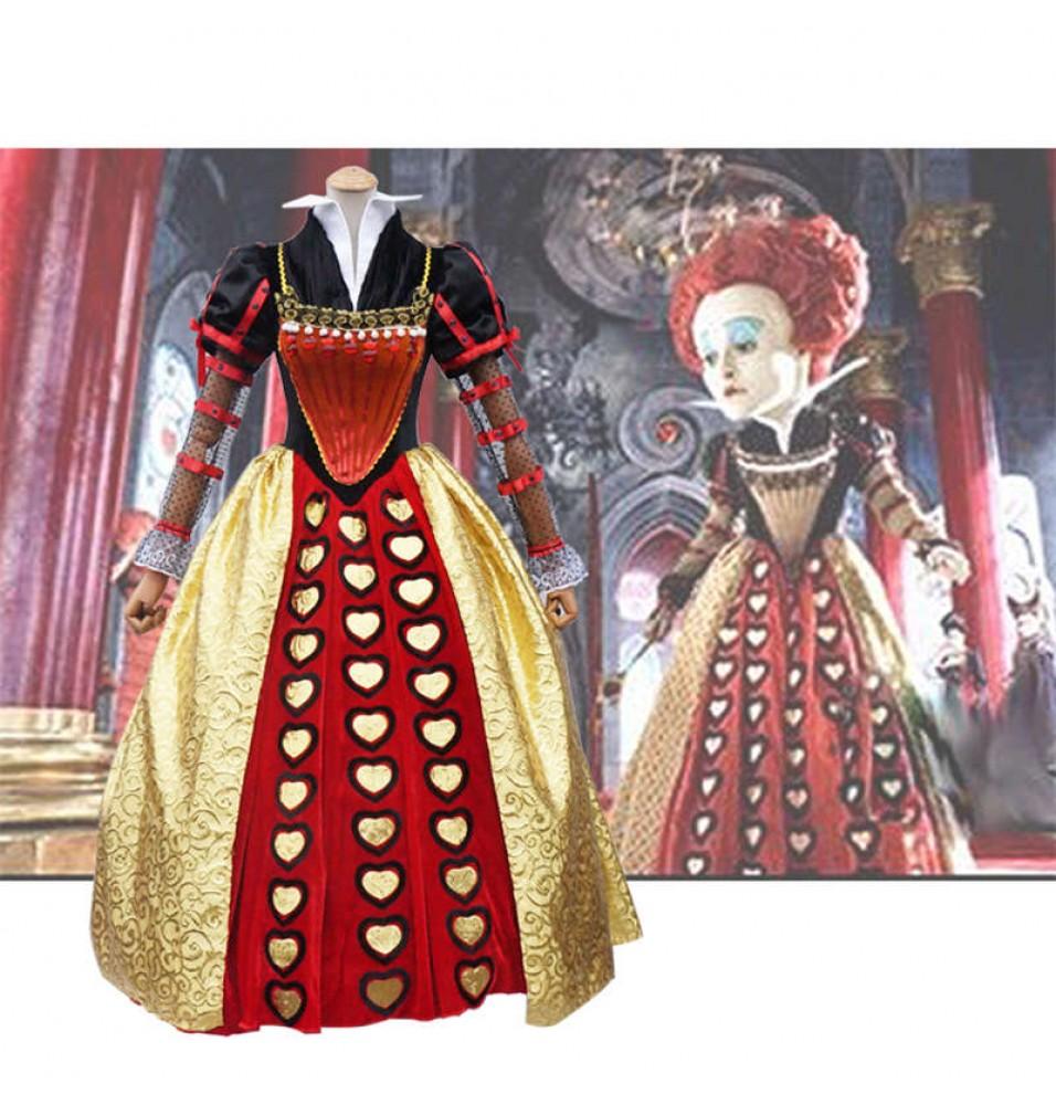 Alice In Wonderland Cosplay Red Queen Dress Costume