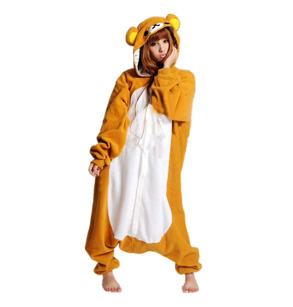 Brown Rilakkuma Bear Onesie Pajama for Adults