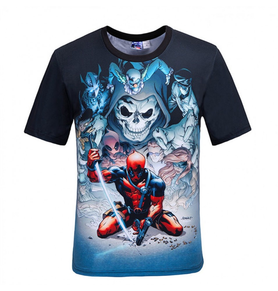 Deadpool Movie 3D Style MenT-Shirt