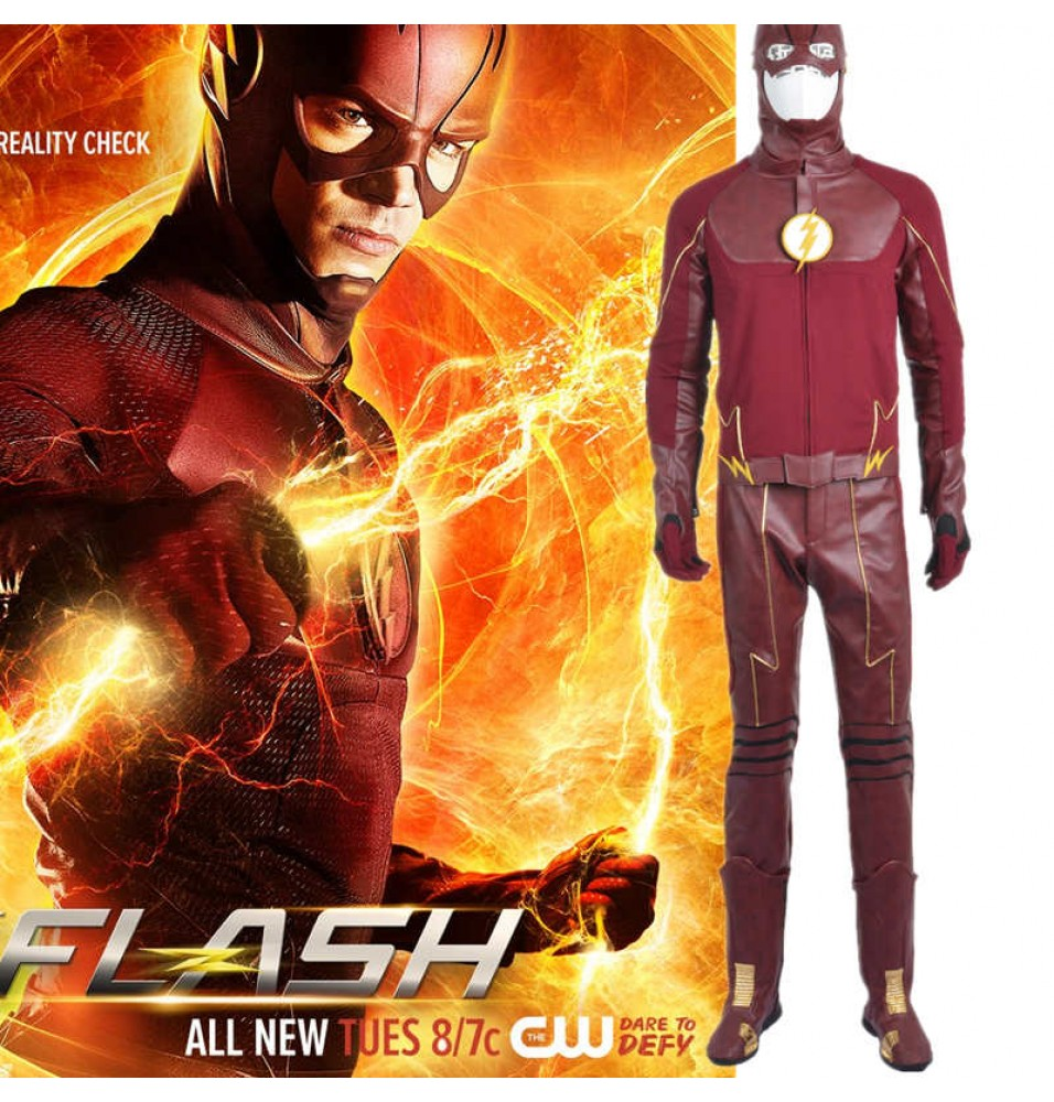 Detective Comics TV The Flash Season 2 Barry Cosplay Costume