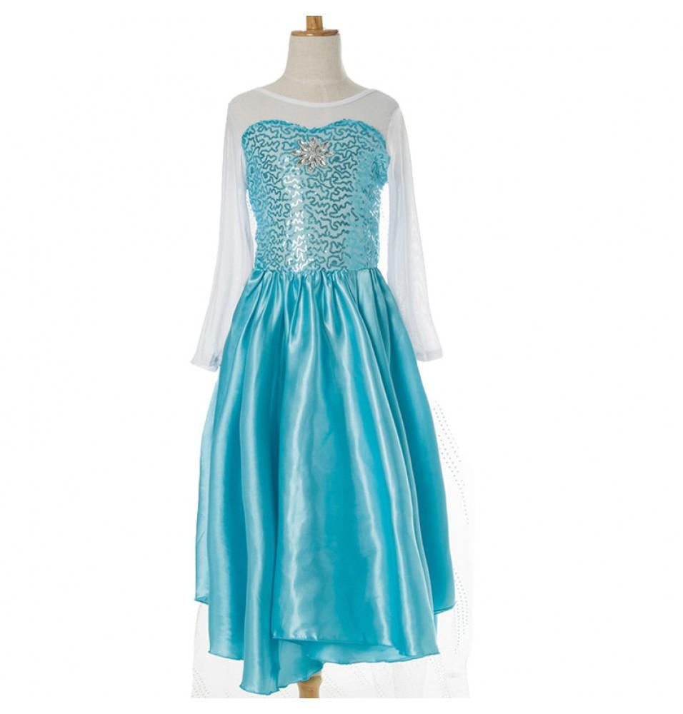 Disney Movie Frozen Elsa Kids Dress Cosplay Costumes