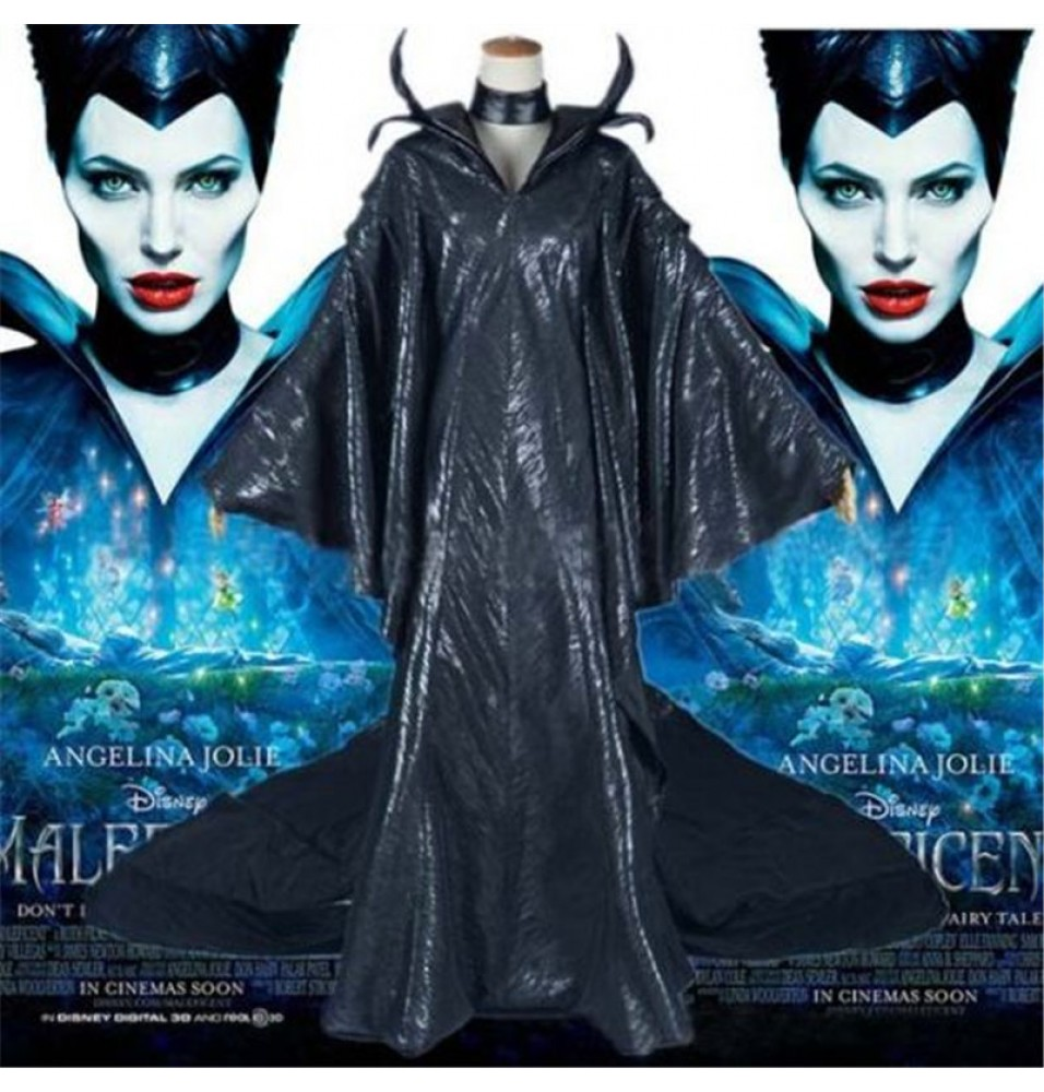 Disney Maleficent Black Witch Princess Dress Cosplay Costumes