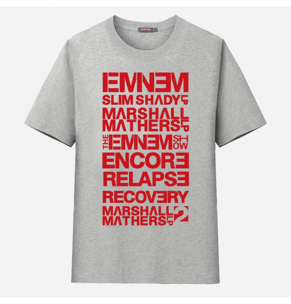 Eminem Memorial Album Collection Tee Shirt T-shirt