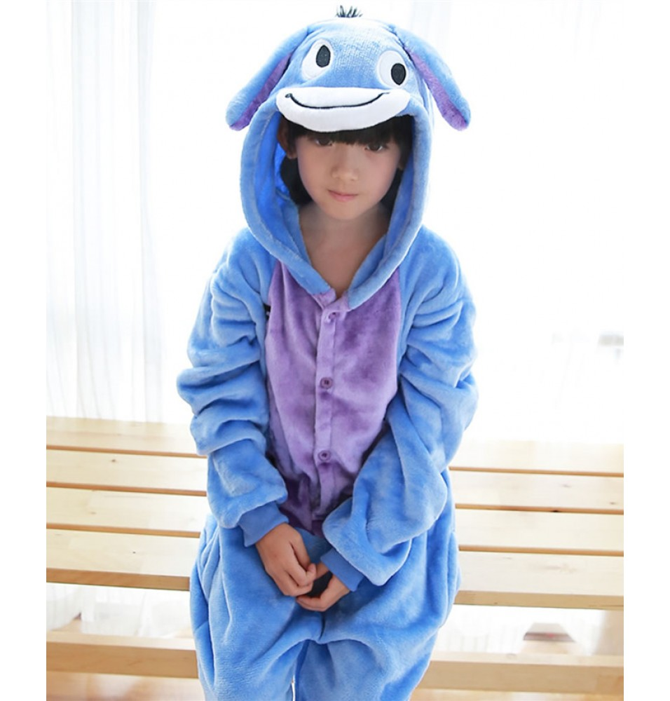 Donkey Onesies Pajamas Flannel Children Kigurumi Onesies Winter Animal Pajamas For Kids