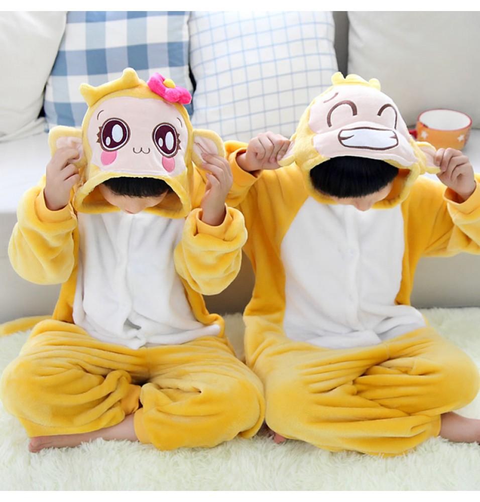 Yoci Onesies Pajamas Flannel Children Kigurumi Onesies Winter Animal Pajamas For Kids