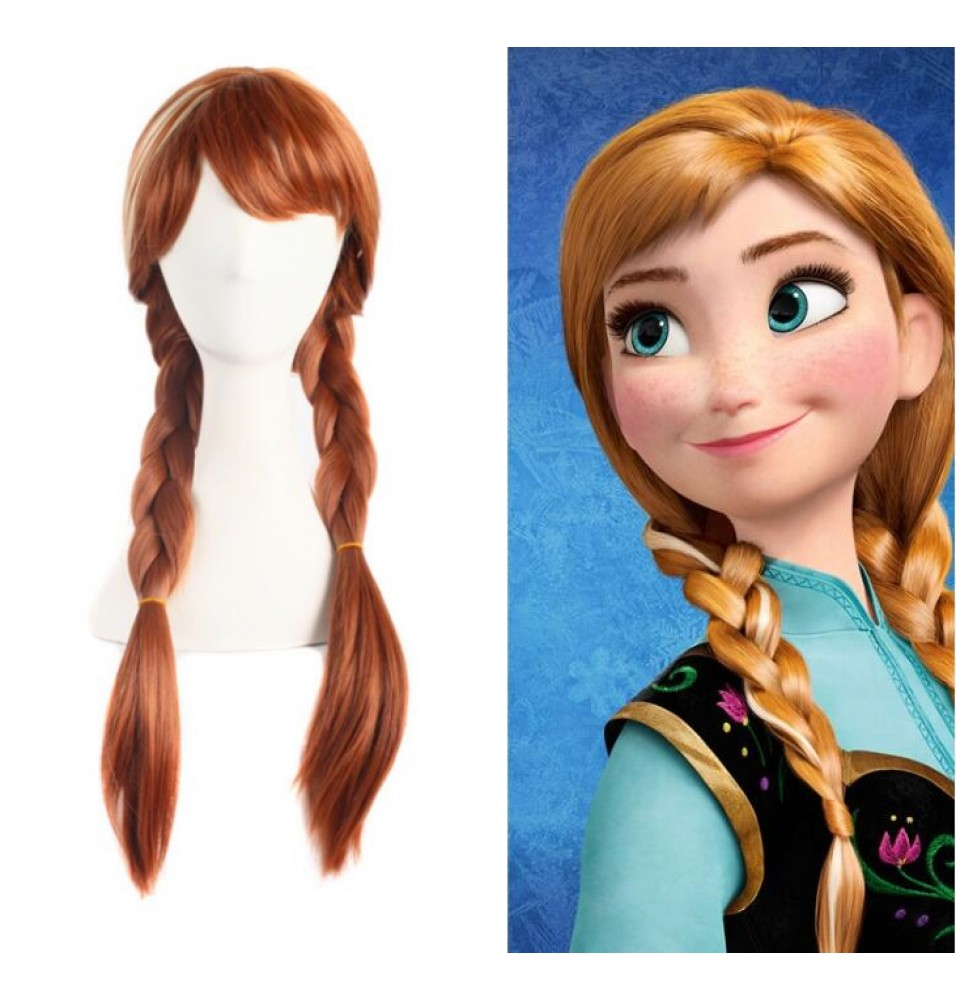 Frozen Princess Anna Cosplay Wigs