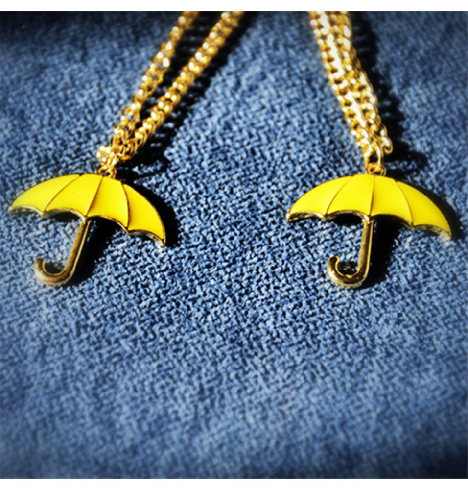 How I Met Your Mother Yellow Umbrella Cosplay Necklace Pendant Gift