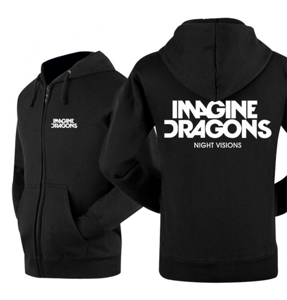 Imagine Dragons Night Visions Zipper Hoodies