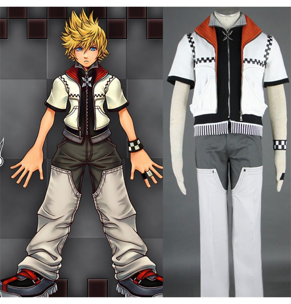 Kingdom Hearts II Cosplay Roxas Outfit Costume 1st Version