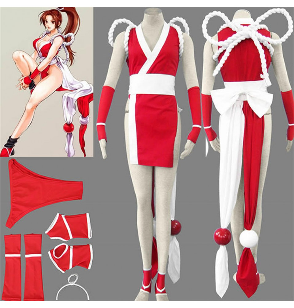 KOF THE KING OF FIGHTERS Mai Shiranui Cosplay Costume--Deluxe Ver