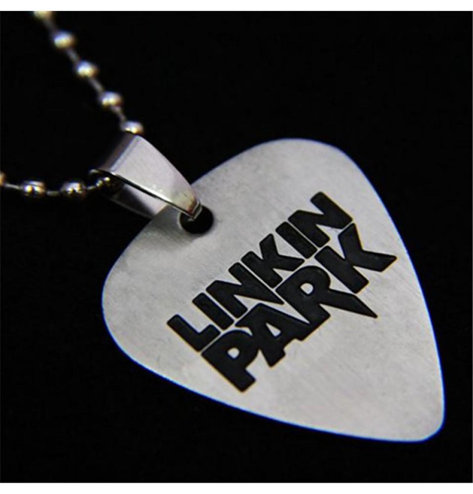 Linkin Park logo Titanium Steel Metal Guitar Paddles Necklace
