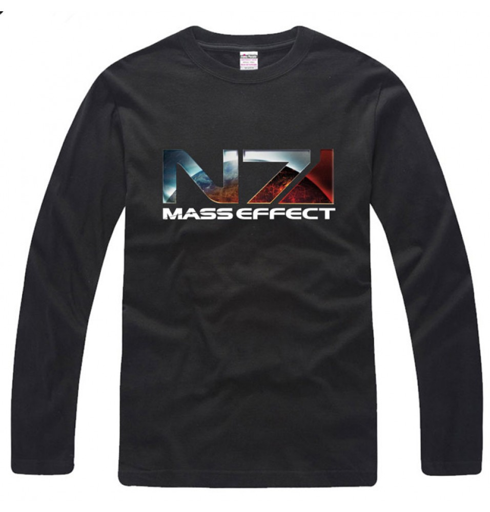 Mass Effect 3 N7 Logo Long Tee Shirt