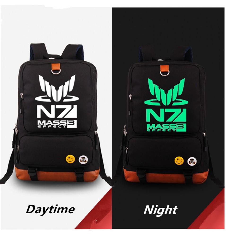 Mass Effect N7 Deadpool luminious Schoolbag backpack