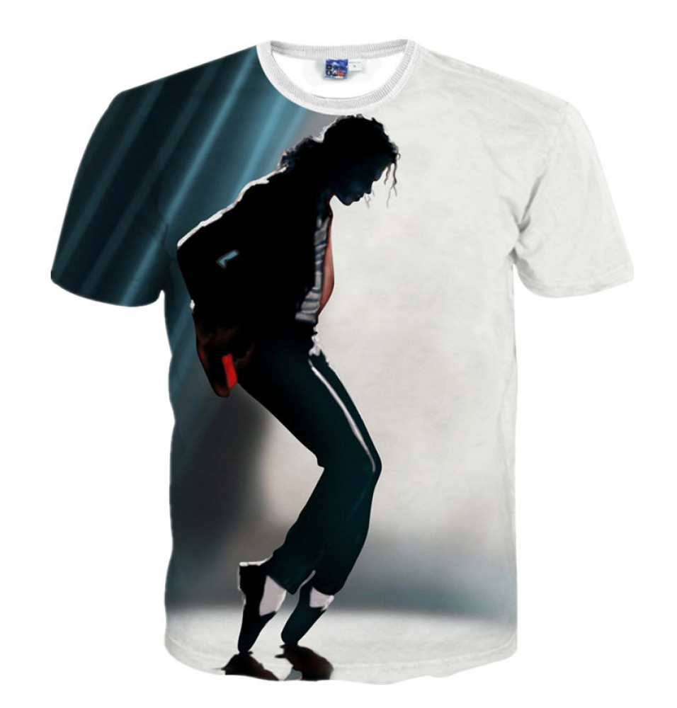 Michael Jackson 3D Print Harajuku Tee Shirt T-Shirt