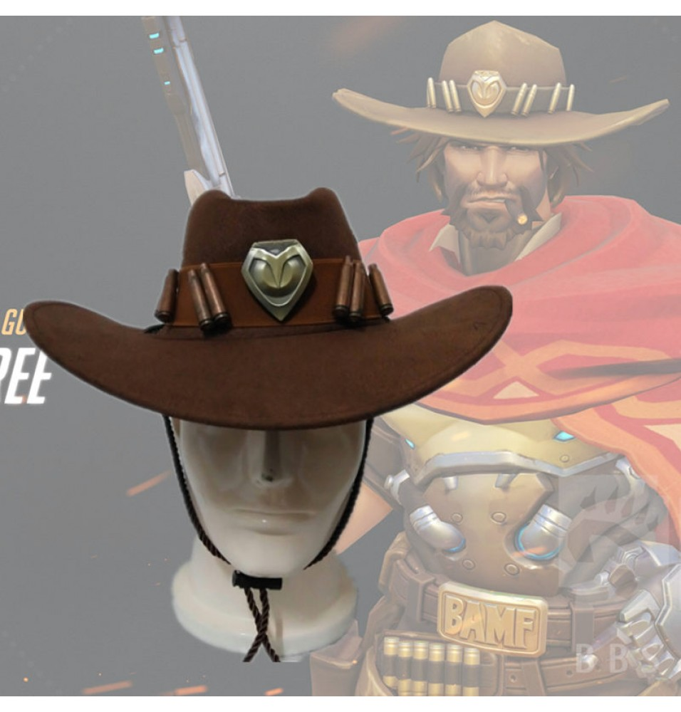 Overwatch McCree Cap Cosplay Hat Props Halloween