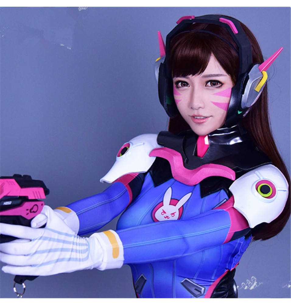 Overwatch OW D.Va DVa Hana Song Brown Cosplay Wigs