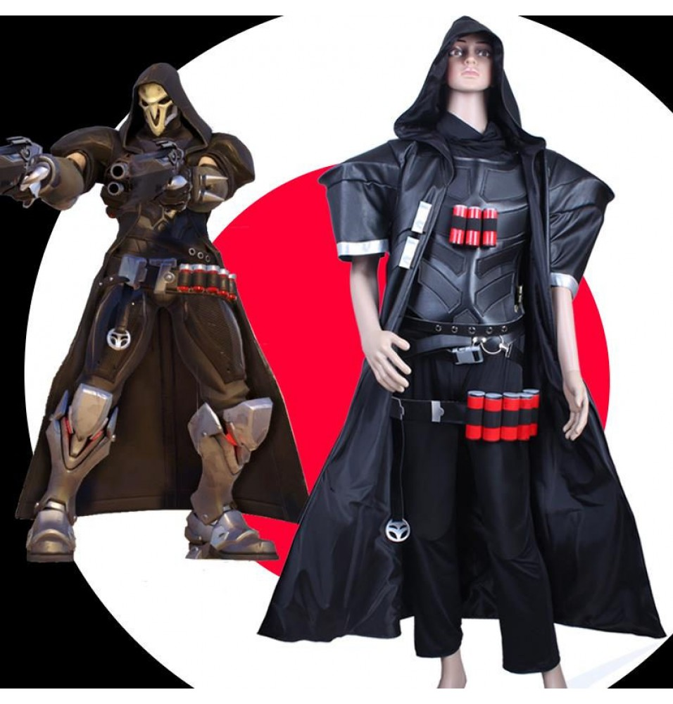 Overwatch Ow Reaper Cosplay Set Halloween Costumes