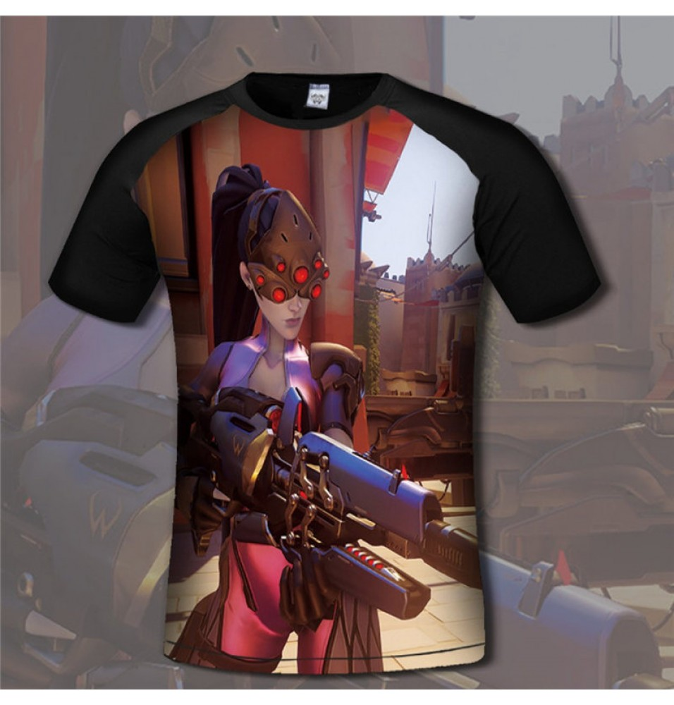 Overwatch Widowmaker 3D Print Men T-Shirts