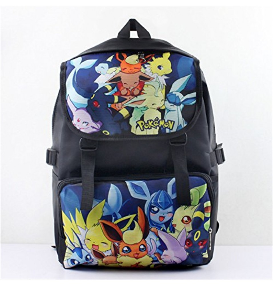 Pokemon Go Pocket Monster Eevee Family Backpack School Bag