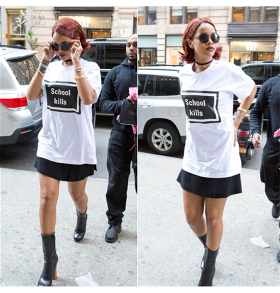 Rihanna School Tee Shirt T-Shirts