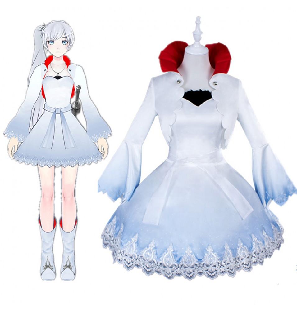 RWBY White Trailer Weiss Schnee Cosplay Costume
