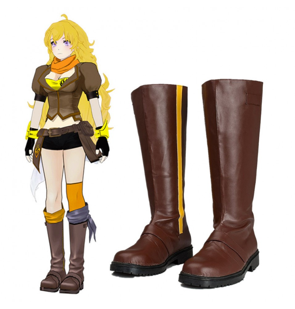 RWBY Yellow Trailer Yang Xiao Long Boots Cosplay Shoes