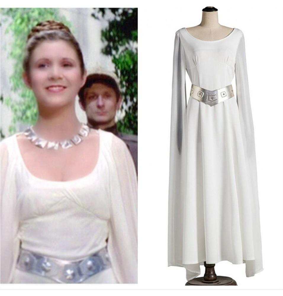 Star Wars: A New Hope Princess Leia Cloak Dress Cosplay Costumes