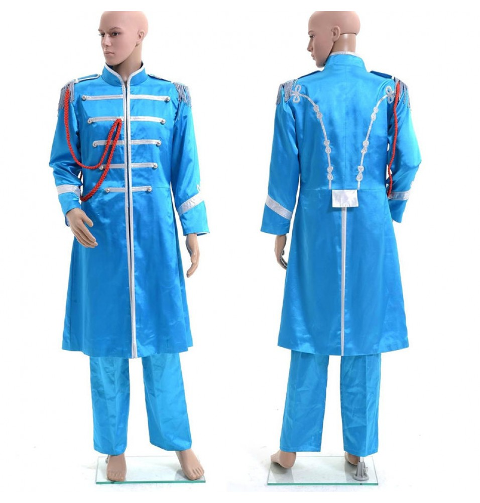 The Beatles Sgt. Pepper's Lonely Hearts Club Band Paul McCartney Blue Cosplay Costume