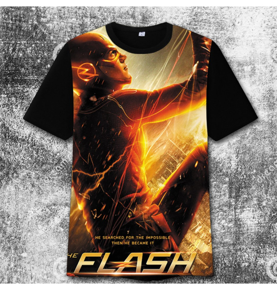 The Flash 3D iImage Print Harajuku Tee Shirt