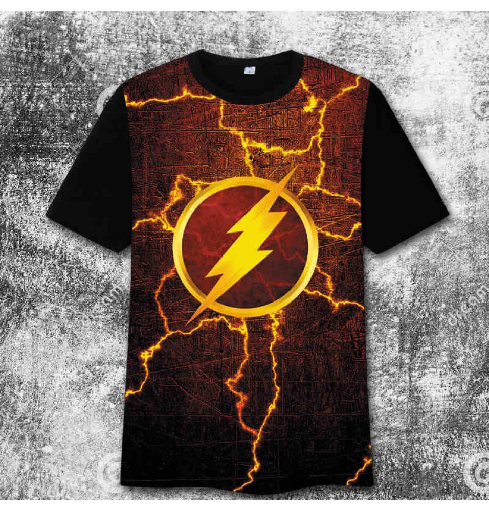 The Flash Logo 3D Print Harajuku Tee Shirt T-Shirt