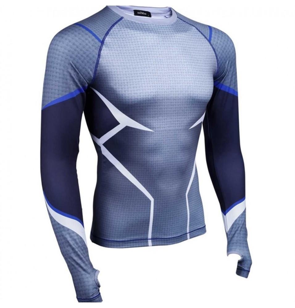 Timecosplay Marvel Superhero The Avengers Quicksilver CosplaySport Tight Tops CosplayTee Shirt