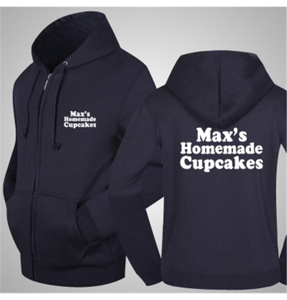 TimeCosplay 2 Broke Girls Maxs Homemade Cupcakes Zipper Hoodies Sweatshirts