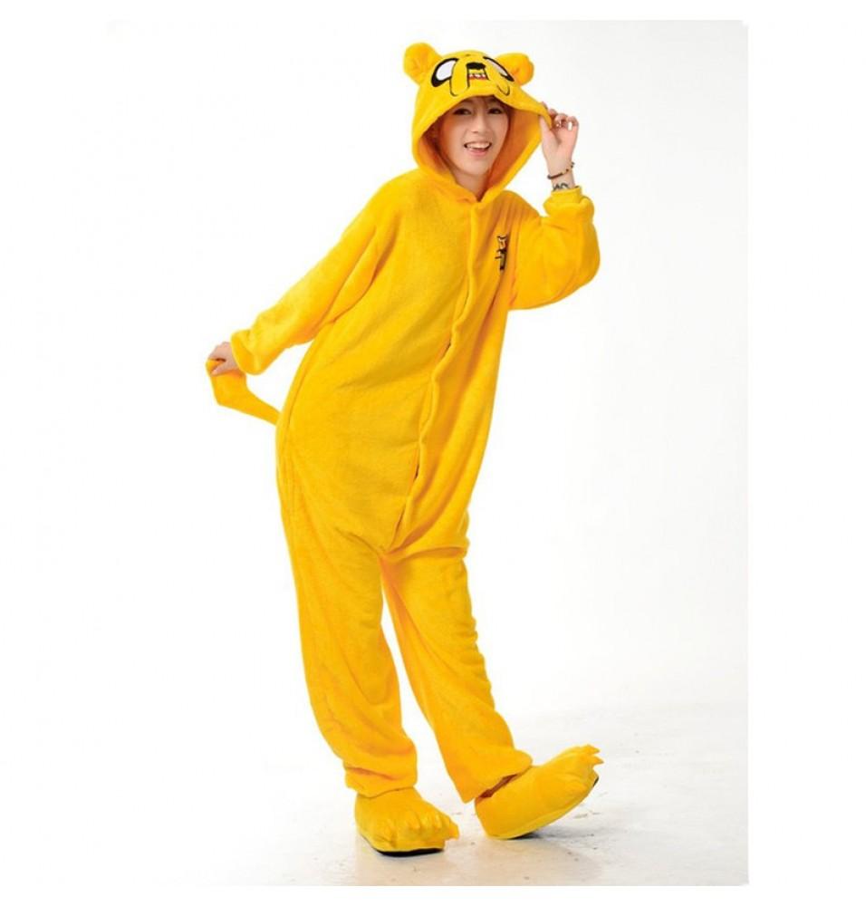 TimeCosplay Adventure Time with Finn and Jake Cosplay Onesie Pajamas Halloween Animal Kigurumi