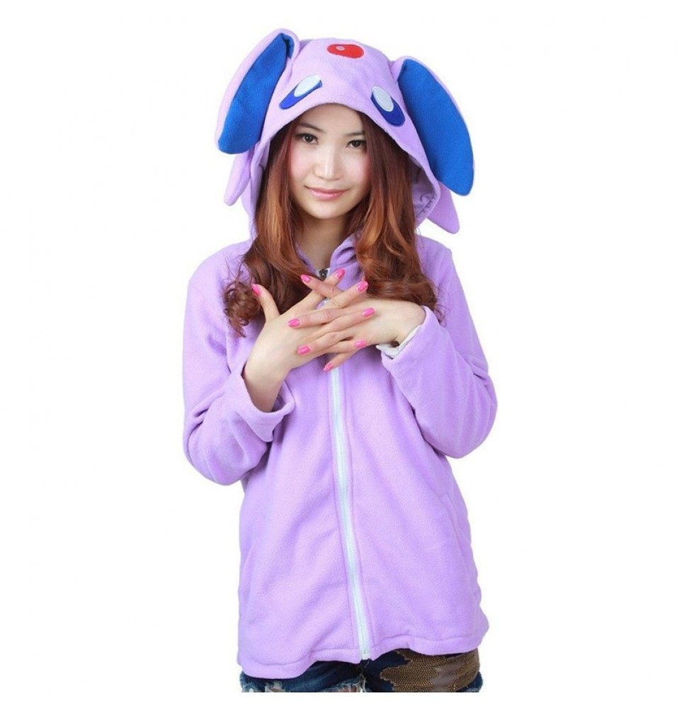 Timecosplay Anime Pokemon Go Cute Cartoon Stitch Espeon Cosplay Hoodie Kigurumi Costume Sweater