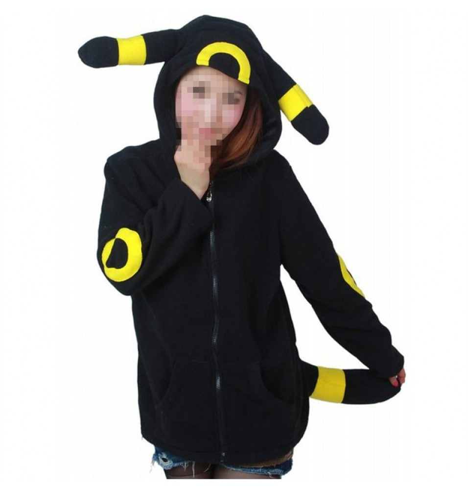 Timecosplay Anime Pokemon Go Umbreon Cosplay Hoodie Kigurumi Costume Sweater