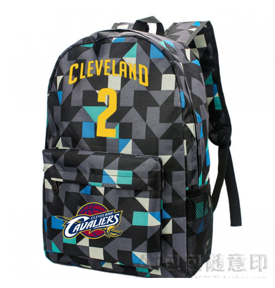 Timecosplay Cleveland Cavaliers Kyrie Irving 2 Logo lattice Backpack School  Bag 1be5e4b5cbcdf