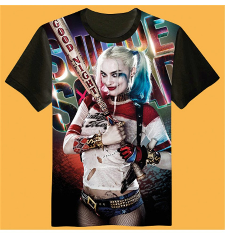 Timecosplay DC Suicide Squad Harley Quinn 3D Print Harajuku Men Tee Shirts