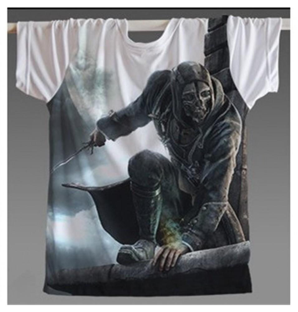 Timecosplay Dishonored Logo Murders 3D Print Harajuku Tee Shirts
