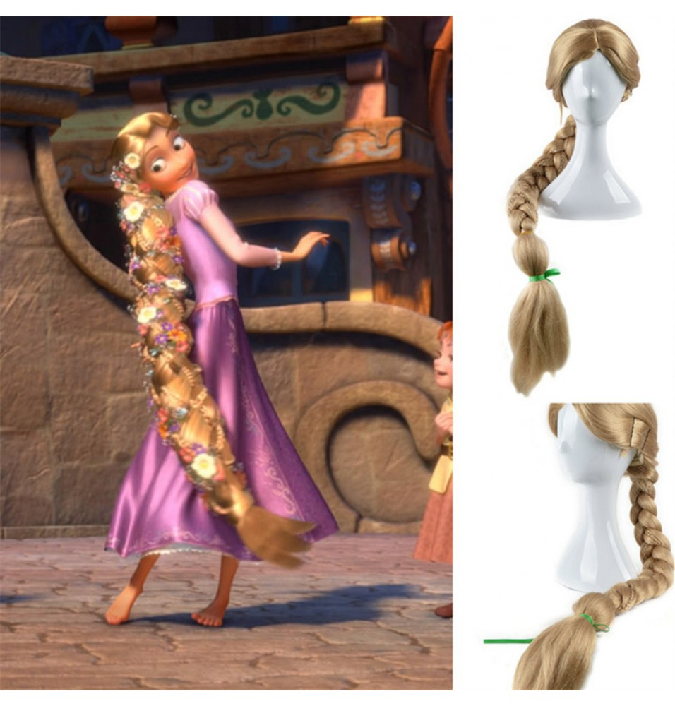 TimeCosplay Disney Tangled Princess Rapunzel Adult Cosplay Wigs